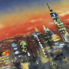 Commissioned skyline piece