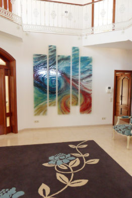 Multi colour Wave wall panels