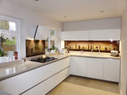 Brown Cityscape Splashback